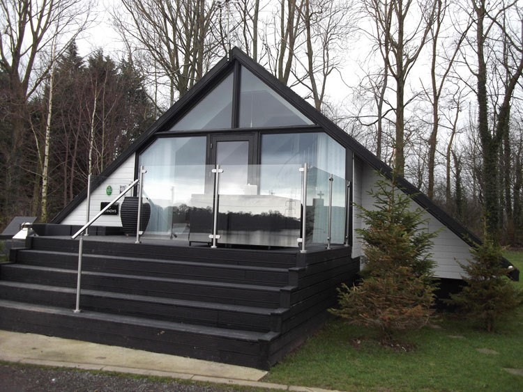 A house which features glass balustrades