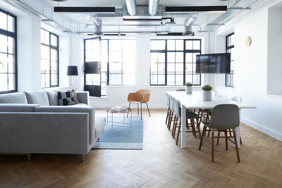Modern Industrial Living Area Design