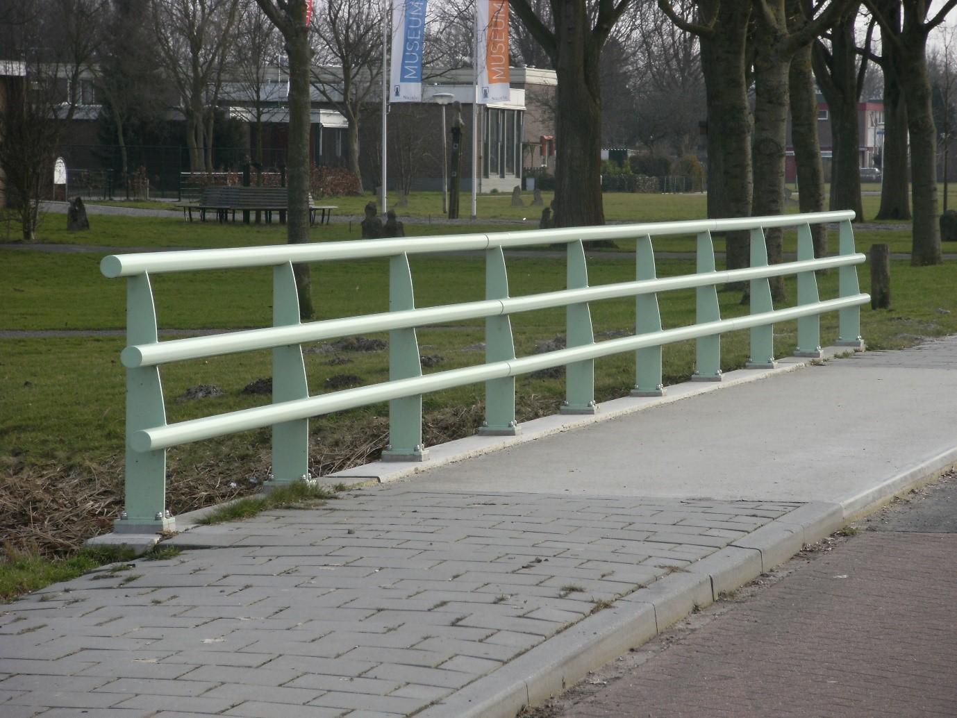 green railing