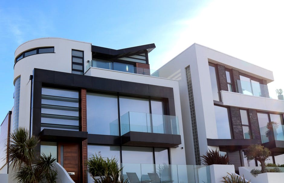 modern home with glass balustrades