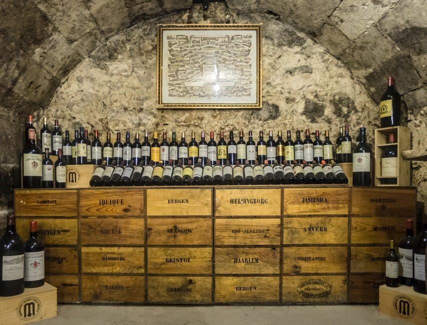 vaulted wine cellar