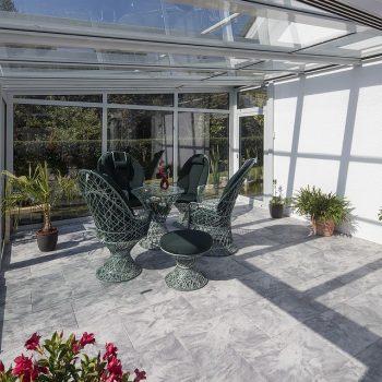 modern glass conservatory