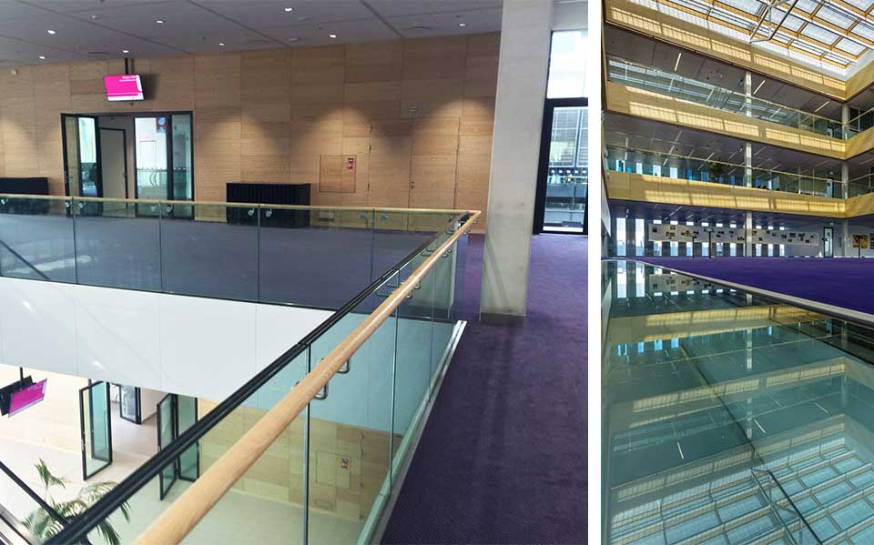 RAI Antrium Amsterdam features AMG Railings