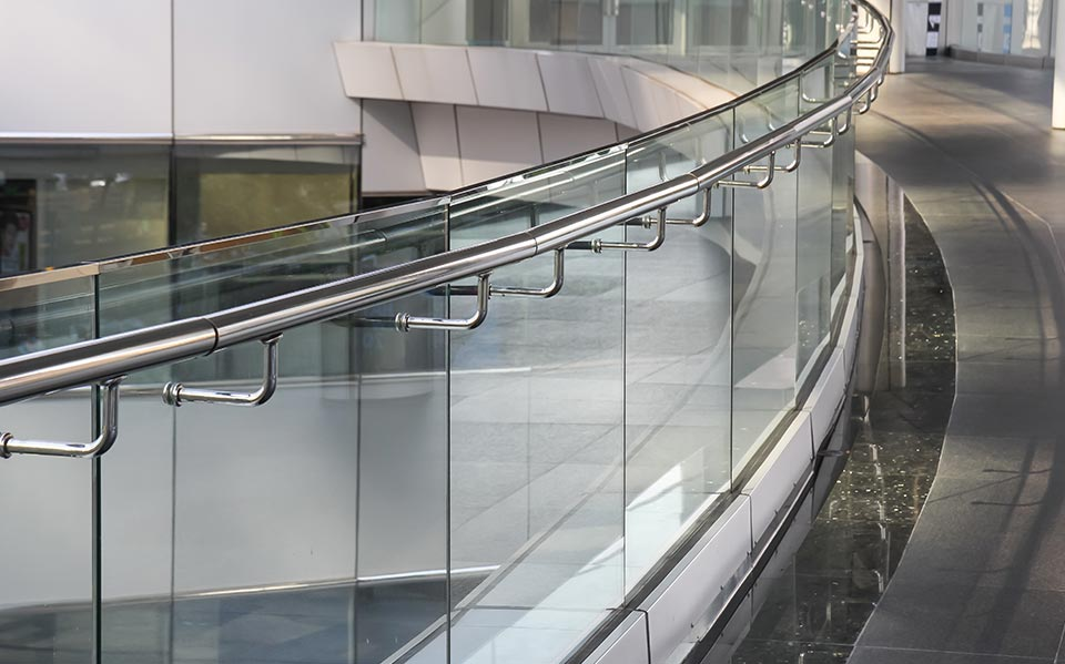 Glass railing and handrail