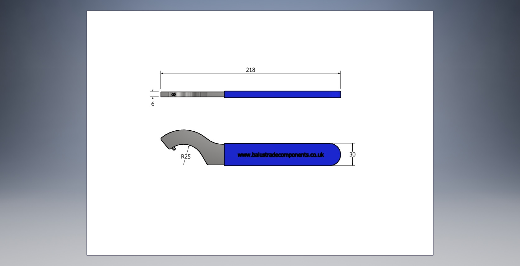 C-Spanner for 60mm Diameter Glass Bosses