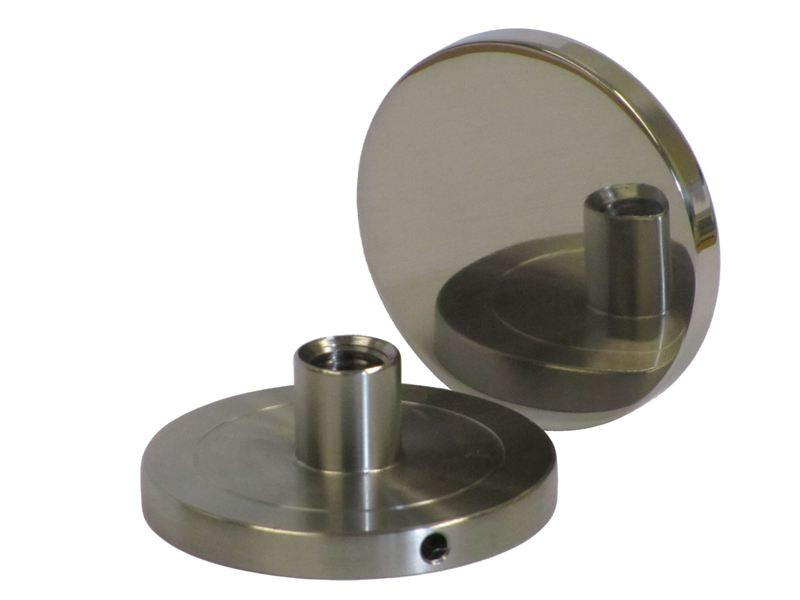 Glass Buttons (Glass Bosses) 50mm Diameter with Side Drive Hole