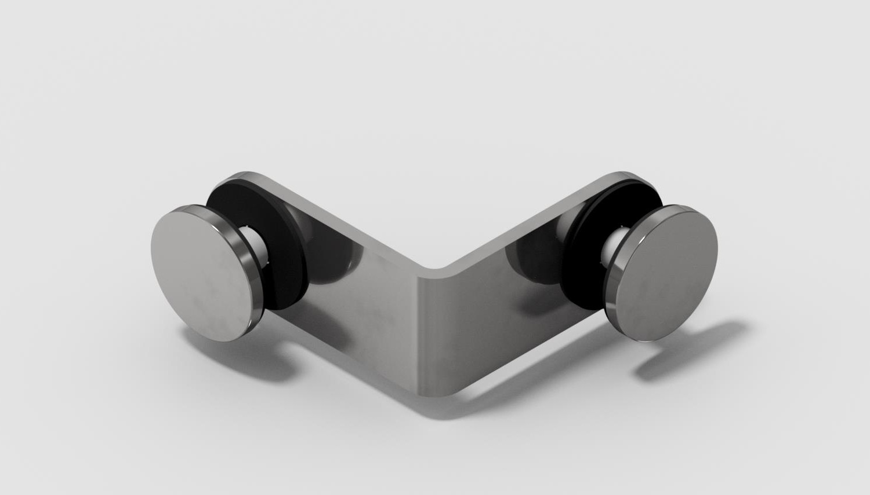 90 Degree Glass Brackets – Outside 50mm