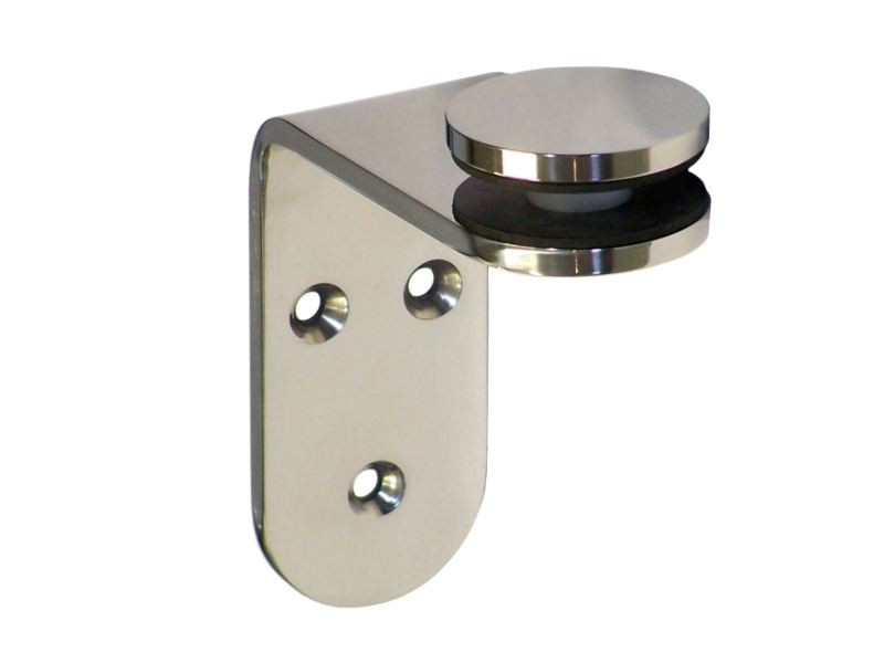 Screw On 90 Degree Angle Glass Fixing Brackets 40mm Wide