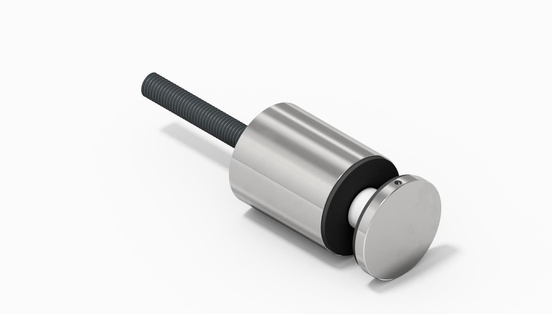 Resin Bond Stainless Steel Standoffs for Glass 60mm Diameter