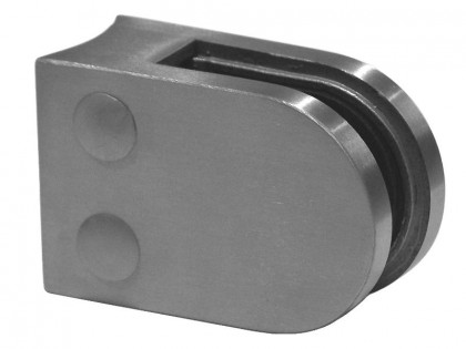 D-Shaped Glass Clamp Radiused Back